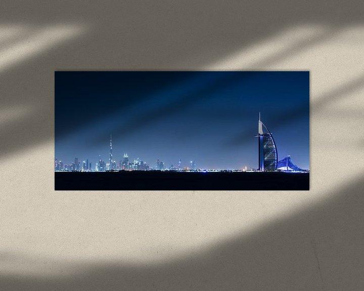 Sfeerimpressie: Dubai Skyline II van Dennis Wierenga