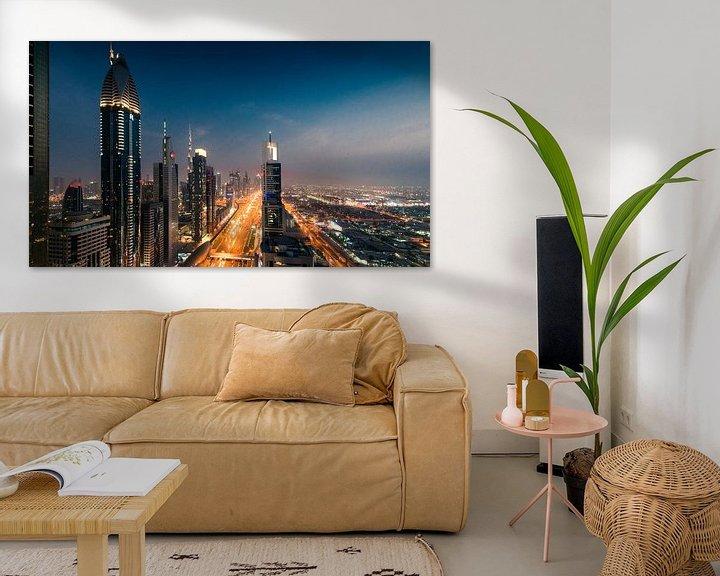 Sfeerimpressie: Dubai Skyline I van Dennis Wierenga