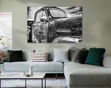 Chevrolet-Aufnahmedetail in Schwarzweiss