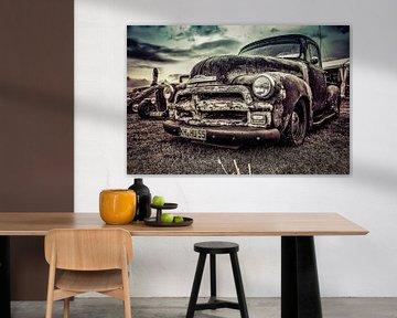 Chevrolet-Aufnahmeweinlese und rostig