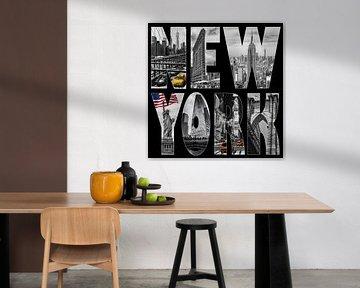 New York City collage van Bart van Dinten