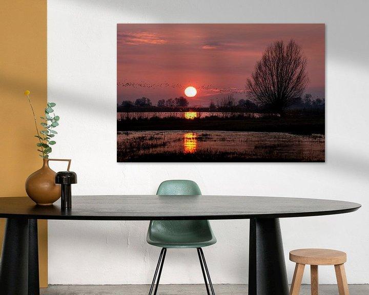 Sfeerimpressie: Jutjesriet bij zonsondergang van Erik Veldkamp