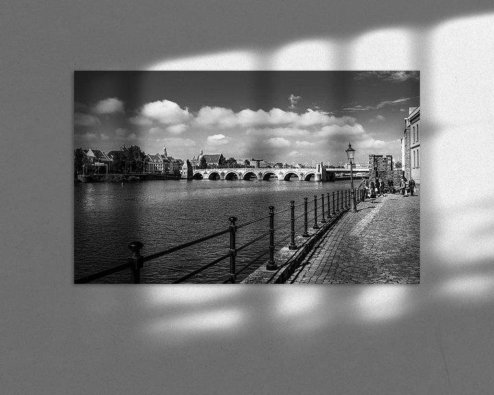 Sfeerimpressie: Maastricht, Sint Servaasbrug van Leo Langen