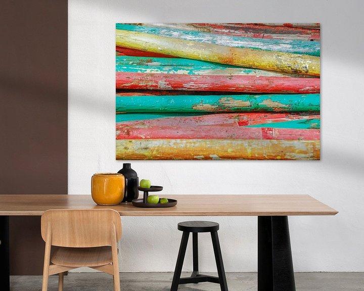 Sfeerimpressie: Gekleurde palen van Marcel Pietersen
