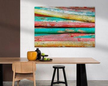 Gekleurde palen van Marcel Pietersen