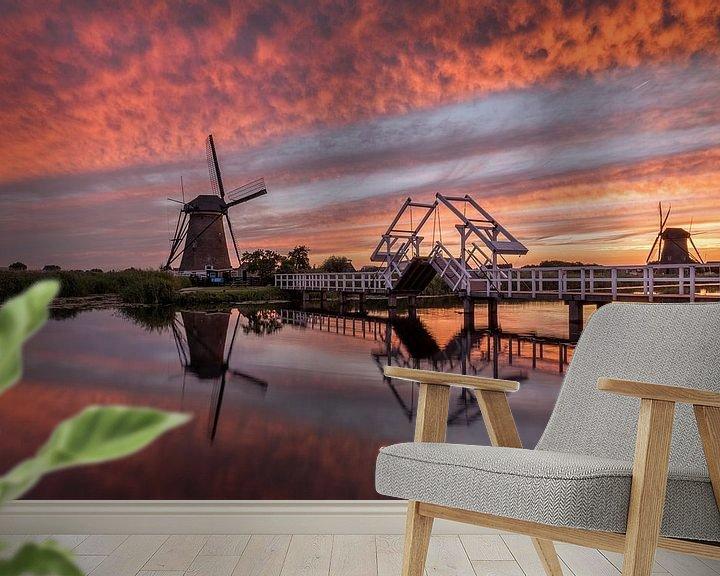 Sfeerimpressie behang: Dutch Inferno van Mario Visser