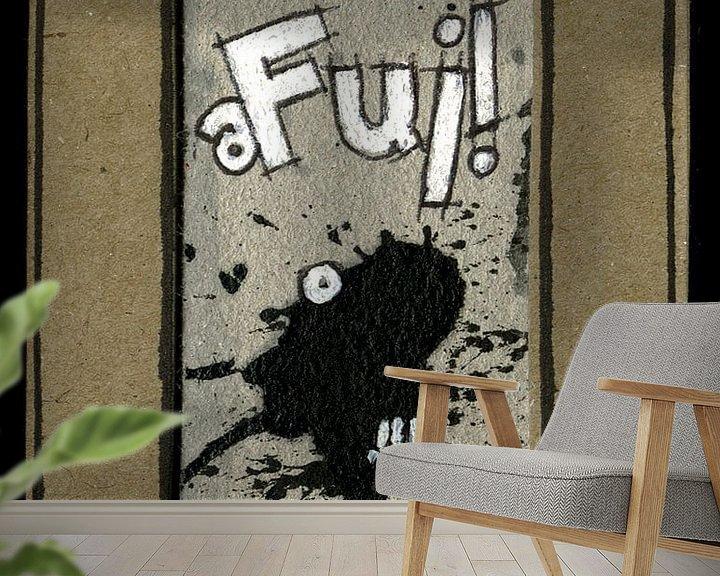 Sfeerimpressie behang: Oh Yuck! van Kuba Bartyński