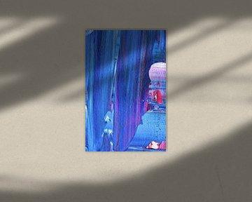 Macrofotografie blauw van City of Light