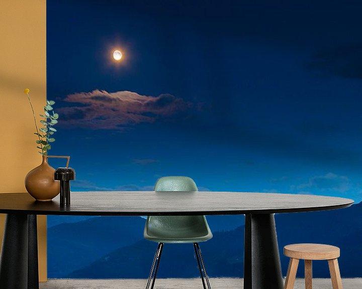 Impression: Mond über Bergen.  sur Mark Scheper