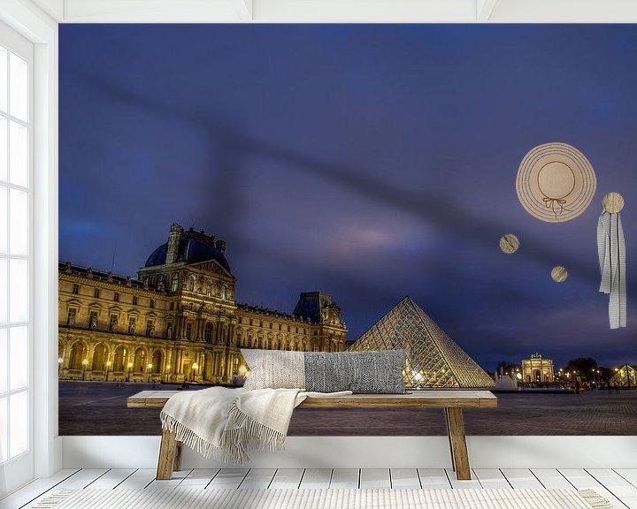 Sfeerimpressie behang: Le Louvre van Michiel Buijse