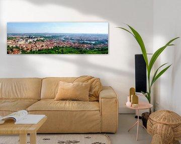 Panoramic view of Prague van Leopold Brix