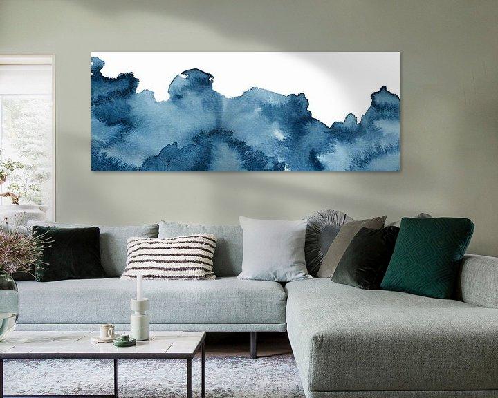 Sfeerimpressie: Let the ocean in | Aquarel schilderij van WatercolorWall