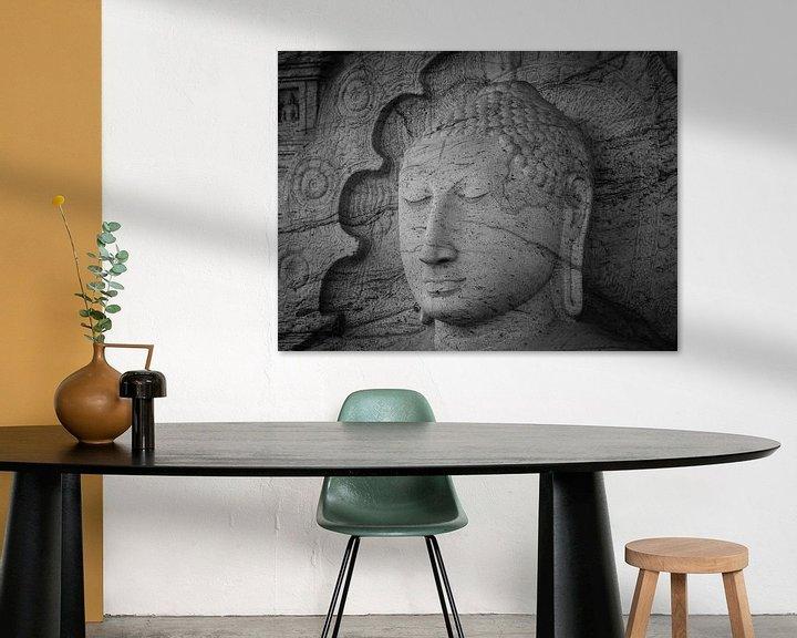 Sfeerimpressie: Seated Buddha statue in dhyana mudra pose at Gal Viharaya van Inez Wijker