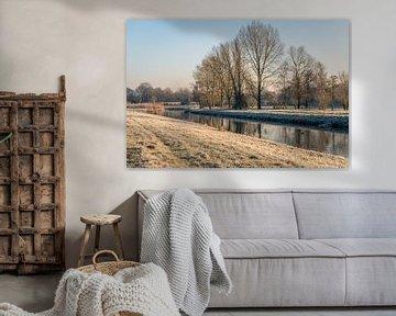 Nederlandse rivier de Mark in de winter van Ruud Morijn