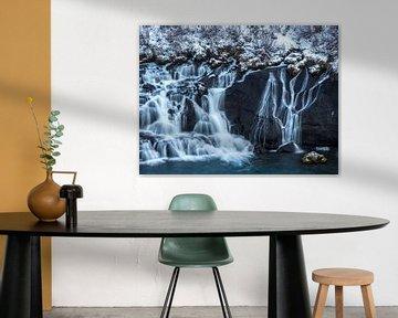 Hraunfossar waterval van Henk Goossens