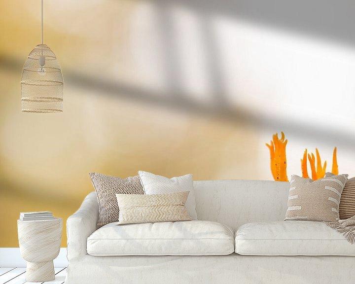 Sfeerimpressie behang: orange van Maja Ooms