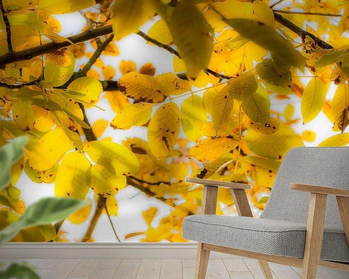 Sfeerimpressie behang: Leaves van Maja Ooms