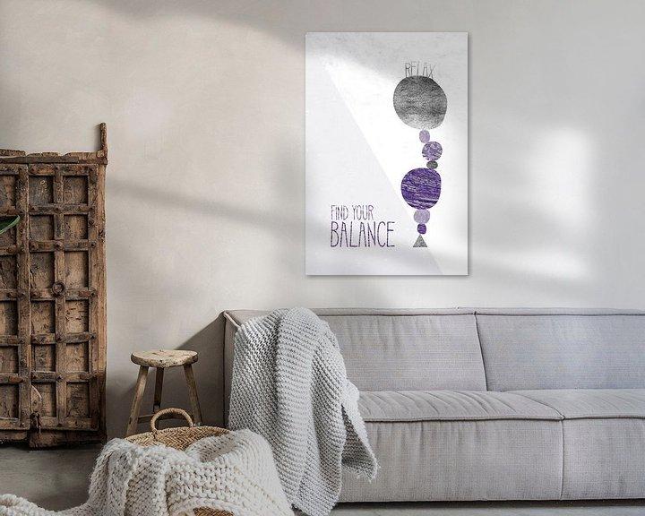 Sfeerimpressie: Grafische Kunst ONTSPANNEN - het VINDEN van UW BALANS   ultraviolet van Melanie Viola