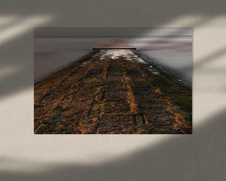 Sfeerimpressie: breakwater at belgian coast van Koen Ceusters