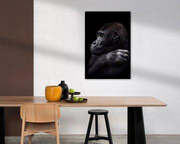 De jonge gorilla man von Ron Meijer Photo-Art