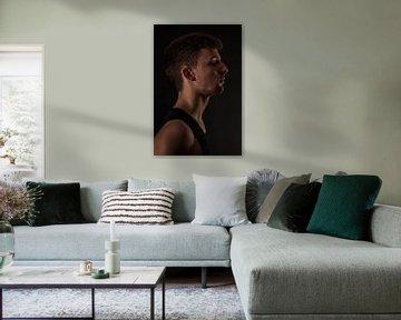 Portret Man en-profil