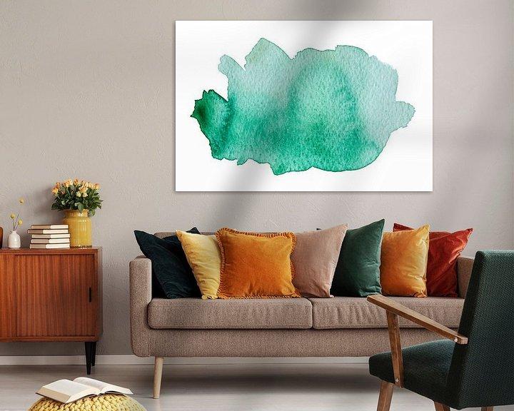Sfeerimpressie: Turquoise van WatercolorWall