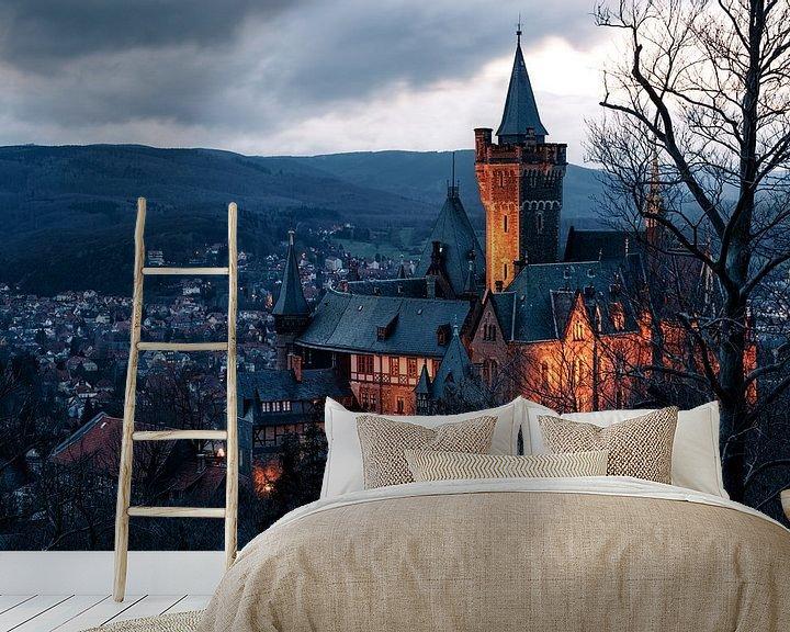 Beispiel fototapete: Schloss Wernigerode im Harz von Oliver Henze