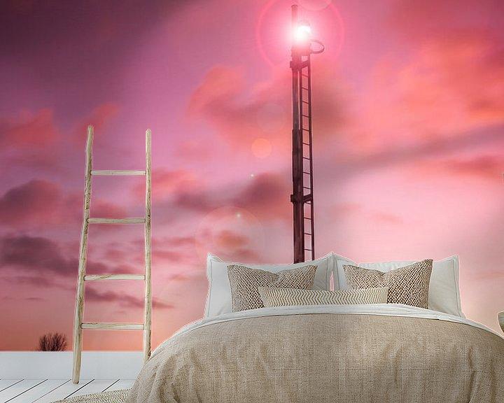 Sfeerimpressie behang: Sky is on fire van Nildo Scoop