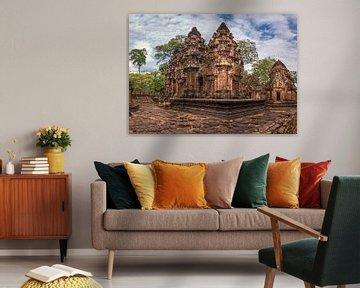 Banteay Srey tempel, Cambodja van Rietje Bulthuis