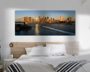 Ochtendgloren over New York Manhattan van JPWFoto