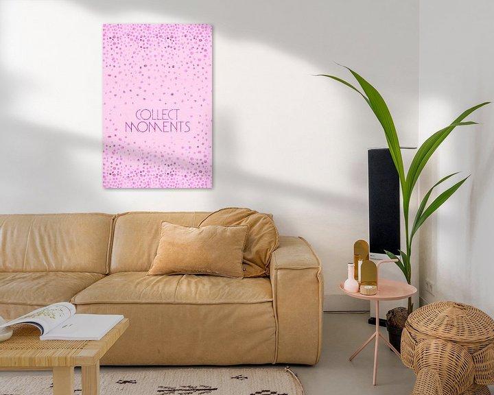 Sfeerimpressie: Tekst Kunst VERZAMELEN MOMENTEN   glinsterende roze  van Melanie Viola