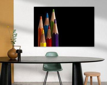 Canvas van gekleurde tekenpotloden sur Jeroen Jonker