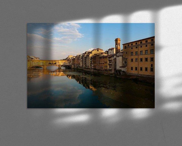 Sfeerimpressie: Ponte Vecchio in Florence van Paul Kampman