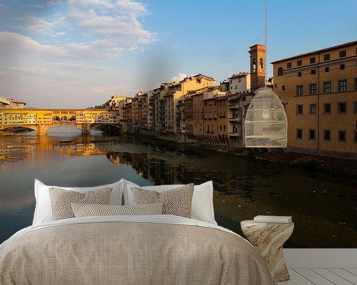 Sfeerimpressie behang: Ponte Vecchio in Florence van Paul Kampman