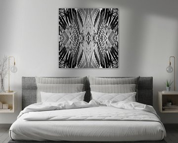 PRETTY BLACK & WHITE LINE PATTERN von Pia Schneider