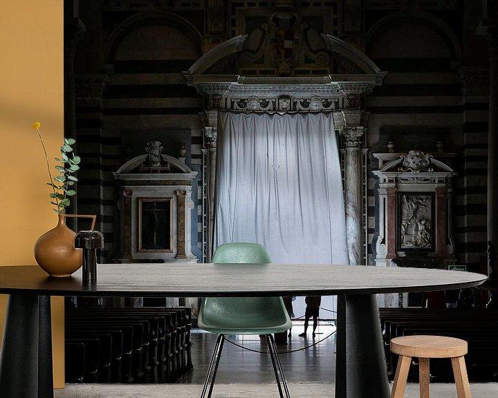 Sfeerimpressie behang: Drie bezoekers van Paul Kampman