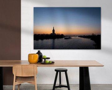 Hasselt (NL) net voor zonsopgang van Erik Veldkamp