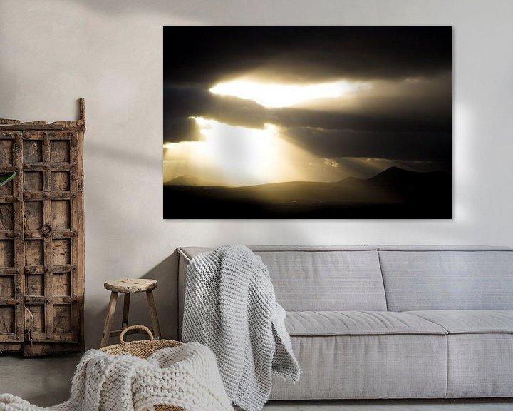 Sfeerimpressie: Zonsondergang Lanzarote van Tomas Grootveld
