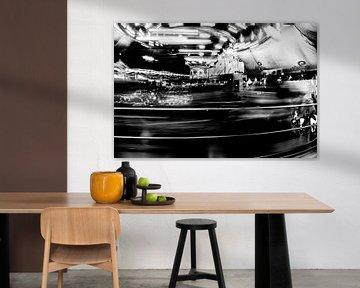 Draaimolen in zwartwit von Wim Stolwerk