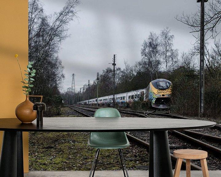 Beispiel fototapete: Abandoned Eurostar-trainset  von Willem van den Berge