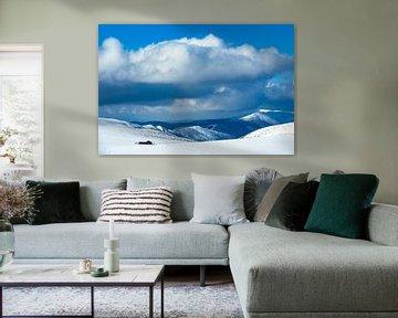 Blick von der Schneekoppe im Riesengebirge in Tschechien von Rico Ködder