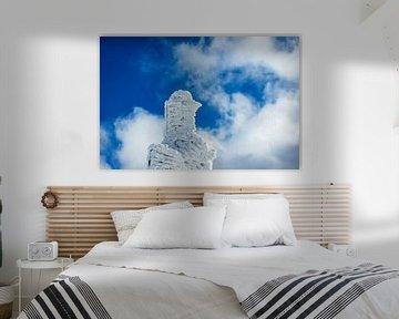 Detail eines Gebäudes auf der Schneekoppe im Riesengebirge von Rico Ködder