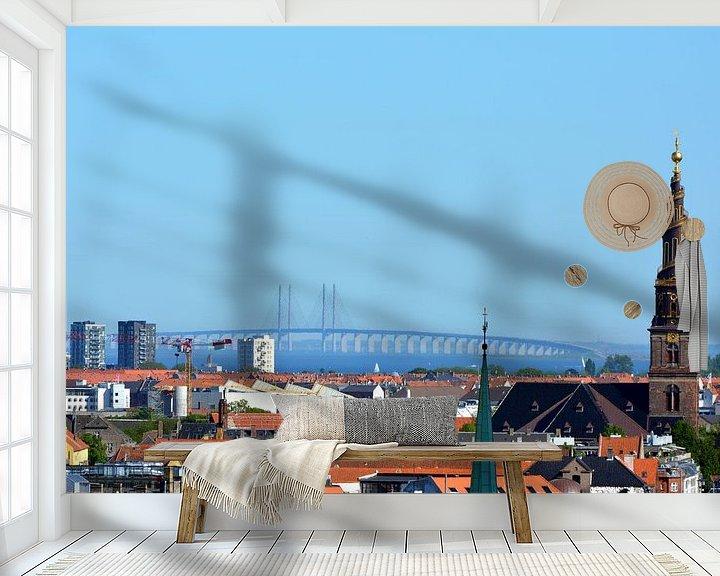 Sfeerimpressie behang: Kopenhagen Sontbrug van Erwin Reinders