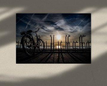Zonsondergang bij Zandvoort van peterheinspictures