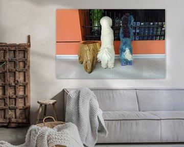 Bleue and White van Henri Berlize