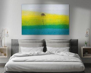 Het strand van WatercolorWall