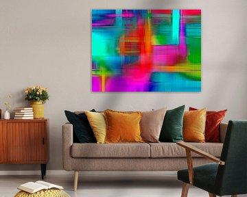 Neon Graphics Connections van ART Eva Maria