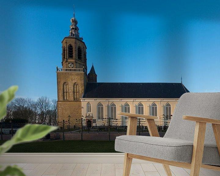 Sfeerimpressie behang: Kerk in Dronryp van Brian Morgan