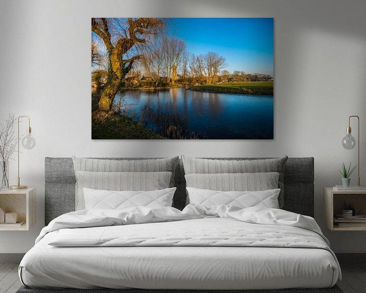 Sfeerimpressie: Gezicht over Donryp Friesland van Brian Morgan