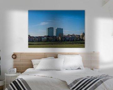 panorama zicht op de skyline van Arnhem van Patrick Verhoef